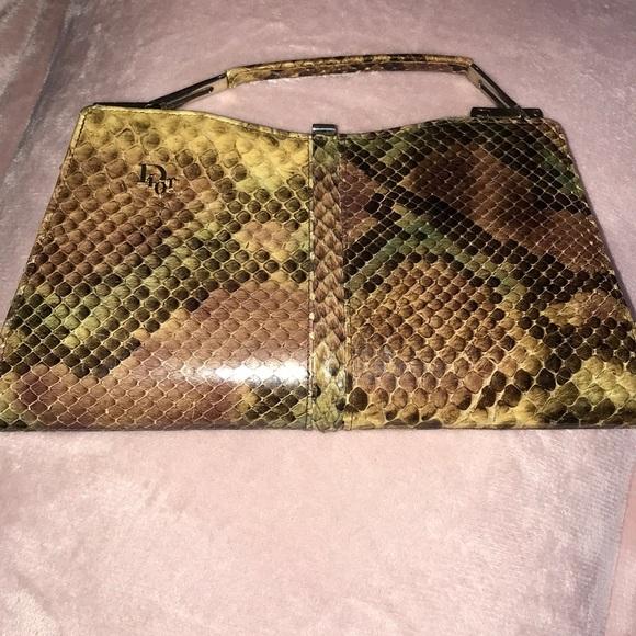 Vintage beige snakeskin clutch  Snakeskin evening bag  beige clutch